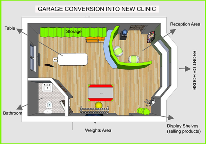 Garage converted into a clinic