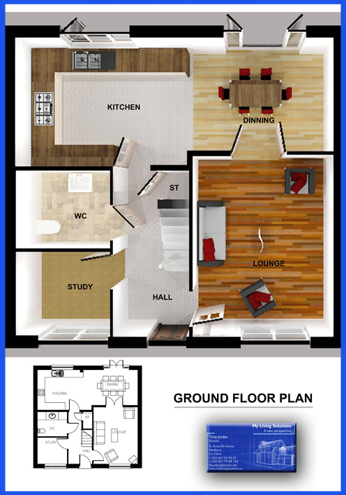 FLOORPLAN FOR CAD DRAWING